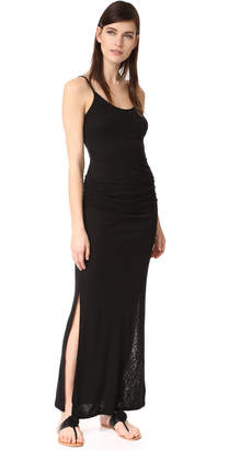 Three Dots Shirred Maxi Dress $138 thestylecure.com