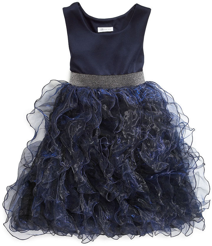 Bonnie Jean Girls Dress, Little Girls Organza Ruffle Dress