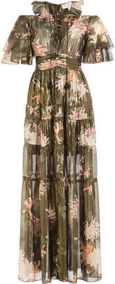 Rachel Zoe Silk Cecily Kiku Print Dress
