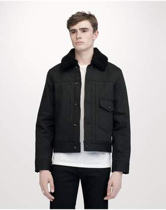 Bartack jacket with sherpa $495 thestylecure.com