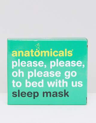 Anatomicals Please Please Oh Please Go To Bed With Us Silk Sleep Mask