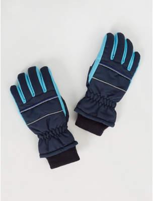 George Thinsulate Navy Padded Ski Gloves