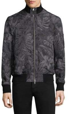 Michael Kors Tropical Print Bomber Jacket