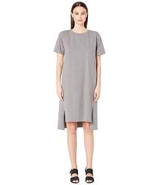 Eileen Fisher Jewel Neck Short Sleeve Dress
