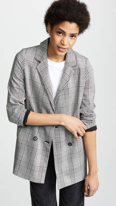 Madewell Double Breasted Plaid Blazer
