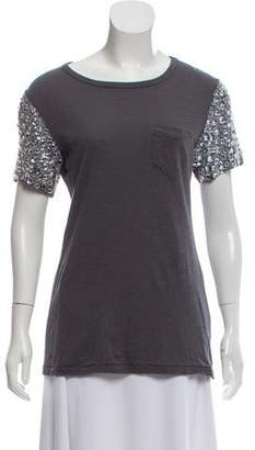 Elizabeth and James Embellished Short Sleeve Top