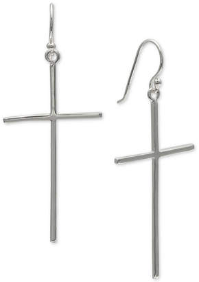 Giani Bernini Cross Drop Earrings in Sterling Silver