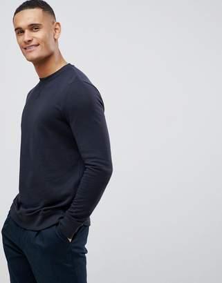 New Look sweatshirt with crew neck in navy