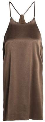 Halston Satin-Crepe Halterneck Camisole