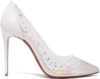 Christian Louboutin Degrastrass crystal-embellished pumps