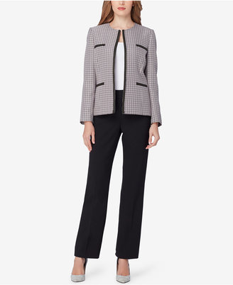 Tahari ASL Chain-Trim Tweed Pantsuit $280 thestylecure.com