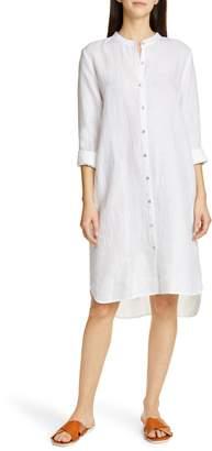 6cc0481435acb9 Eileen Fisher Button Down Organic Linen Shirtdress