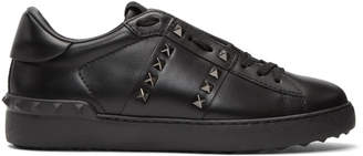 Valentino Black Garavani Rockstud Untitled Sneakers