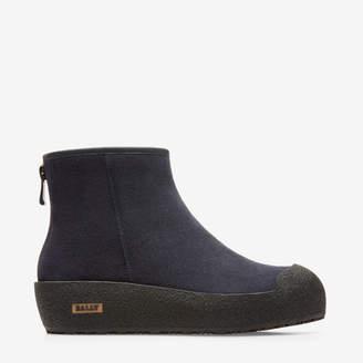 Bally Guard Blue, Women's calf suede boots in dark navy