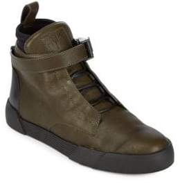 Giuseppe Zanotti Ankle Strap High Top Sneaker