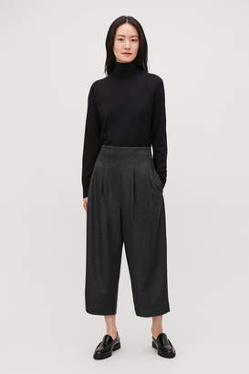 Cos CROP PLEATED WOOL TROUSERS