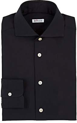 Kiton Men's Cotton-Blend Poplin Dress Shirt