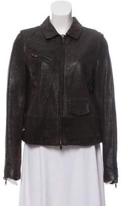 MM6 MAISON MARGIELA Leather Zip-Up Jacket