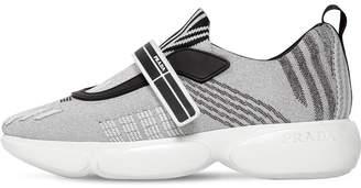 Prada 30mm Cloudbust Lurex Strap Sneakers