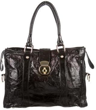 Rebecca Minkoff Vernice Leather Satchel $130 thestylecure.com