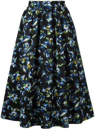 CLANE mid-length floral skirt