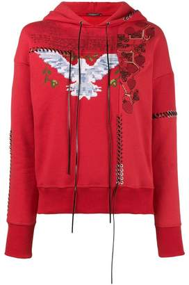 Alexander McQueen Embroidered cotton hoodie