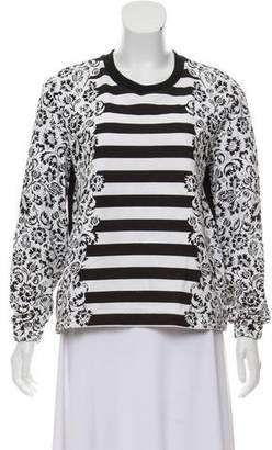Mother of Pearl Patterned Long Sleeve Sweatshirt