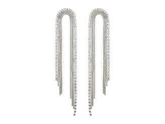 GUESS Chain Post Drop Earrings w/ Stone