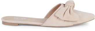 RENVY Amore Knotted Suede Mules