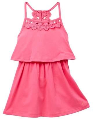 Nautica Crochet Ruffle Popover Dress (Little Girls)