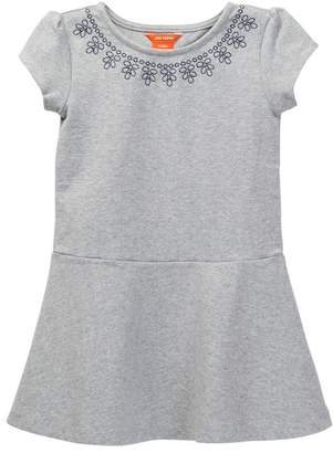 Joe Fresh Embroidered Ponte Dress (Toddler Girls)