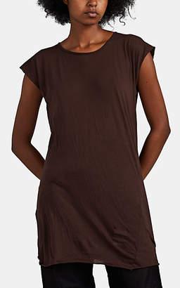 Rick Owens Women's Cotton Cap-Sleeve T-Shirt - Brown