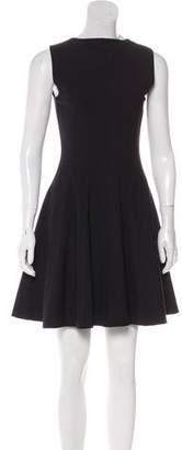 Theory Virgin Wool-Blend A-Line Mini Dress
