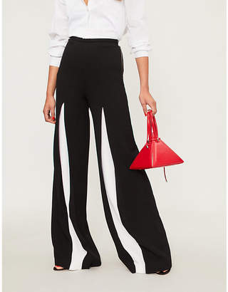 Roland Mouret Burton wide-leg wool-crepe palazzo trousers
