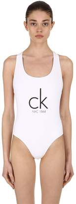 Calvin Klein Cheeky Racerback One Piece Swimsuit