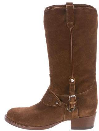 Ralph Lauren Collection Suede Mid-Calf Boots