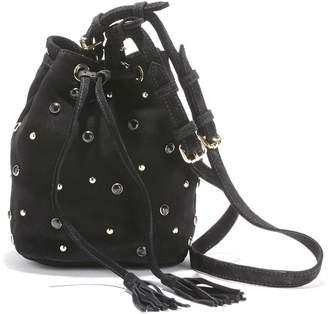 Petite Mendigote Cobane Studded Suede Bucket Bag