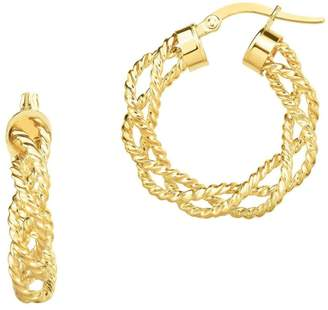 Saks Fifth Avenue 14K Yellow Gold Twisted Braid Hoop Earrings