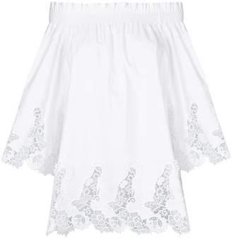P.A.R.O.S.H. lace hem blouse