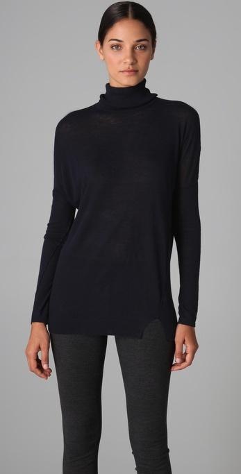 Vince Solid Heather Turtleneck Sweater