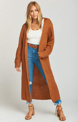Show Me Your Mumu Ready Set Go Oversized Duster ~ Rust Knit