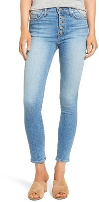 Women's Hudson Ciara High Waist Ankle Skinny Jeans $195 thestylecure.com