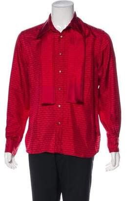 Gucci Printed Silk Shirt w/ Shawl