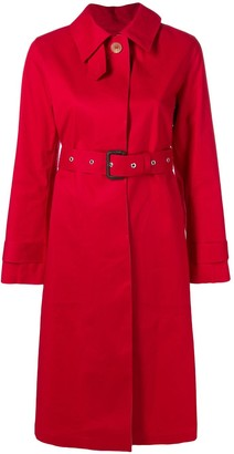 MACKINTOSH Red & Fawn Bonded Cotton Single-Breasted Trench Coat LR-061/CB