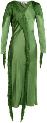 Diane von Furstenberg V-neck fringed dress