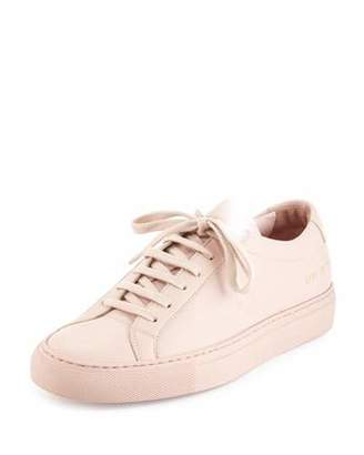 Common Projects Achilles Leather Low-Top Sneakers, Pink