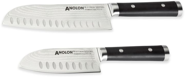 AnolonAnolon® Damascus 2-Piece Santoku Cutlery Set