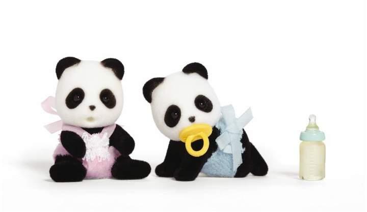 International Playthings Wilder Panda Twins Toy