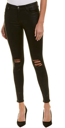 7 For All Mankind Seven 7 Coated Onyx Super Skinny Leg