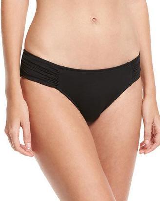 Seafolly Ruched-Side Retro Swim Bottom, Black $72 thestylecure.com